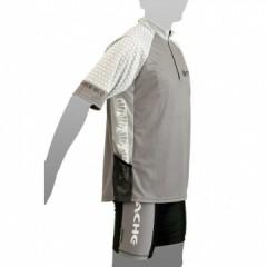 APACHE Dres MTB krátký rukáv, 1 kapsa šedá