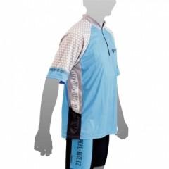 APACHE Dres MTB krátký rukáv, 1 kapsa modrá/šedá