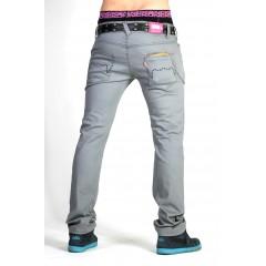KING KONG Kalhoty Banana Jeans šedé