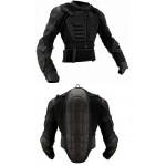 IXS ASSAULT JACKET černý oblek, chránič páteře, těla, rukou