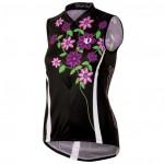 PEARL IZUMI dres W'S Lim.Ed.SL Jers.černý s fial.květy