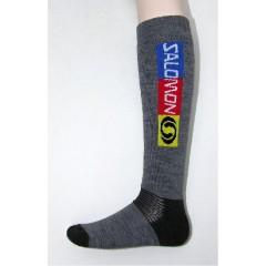 SALOMON ponožky Elios šedo černá