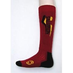 SALOMON ponožky Elios red/yellow
