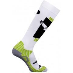 SALOMON ponožky Quest white/green 11/12