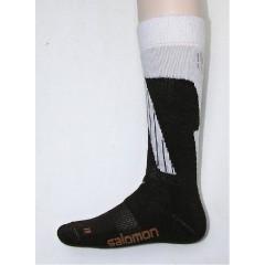 SALOMON ponožky Dialogue brown/white