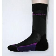 SALOMON ponožky Siam black/purple