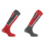 SALOMON ponožky Elios 2 pack new grey/red 12/13
