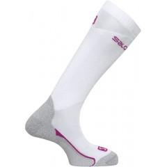 SALOMON ponožky Touring white/wild berry