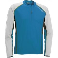SALOMON triko Trail Runner LS zip blue