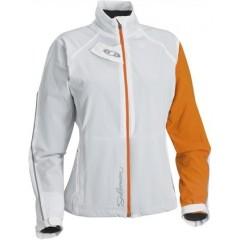 SALOMON bunda Momentum Softshell W white/orange