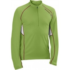 SALOMON triko Trail Runner LS Zip M green