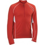 SALOMON triko Trail Runner LS Zip M red