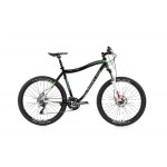 """LEADER FOX MTB 26"""" 13 Out line 20"""" black/white-green decal"""