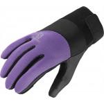 SALOMON rukavice Thermo W black/violet 14/15