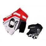 HQBC rukavice Cooler Wov Biogel bílo/červené