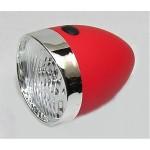 VINTAGE světlo př. retro 3 white LED baterie red