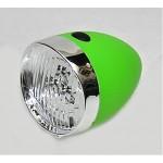 VINTAGE světlo př. retro 3 white LED baterie green