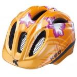 KED přilba 15 Meggy oranžová s květinou M/52-58cm
