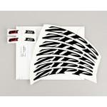 ZIPP Decal Set 303 Matte Black/No Border Logo Complete for One Wheel