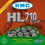 KMC HL-710 HALF-LINK SILVER BOX