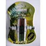BARADINE Brzdové špalíky 955VC 2 ks závit cartidge 3-oj barevné stříbrné