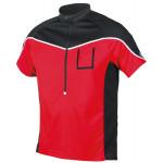 ETAPE pánský volný dres Polo, červená/černá