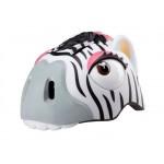 CRAZY STUFF dětská přilba na kolo zebra