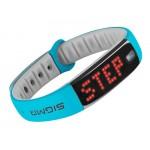 SIGMA fitness náramek ACTIVO, modrá/šedá