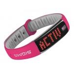 SIGMA fitness náramek ACTIVO, růžová/šedá