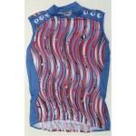 PEARL IZUMI dres W`S Original Sleeves modro/červený bez ru