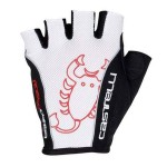 CASTELLI pánské rukavice Rosso Corsa Classic, bílá/černá