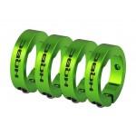 HQBC zamykací kroužky ke gripům zelené 4ks
