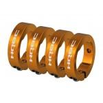 HQBC zamykací kroužky ke gripům oranžové 4ks