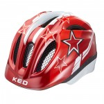 KED přilba 16 Meggy červené hvězdy XS/44-49cm