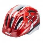KED přilba 16 Meggy červené hvězdy M/52-58cm