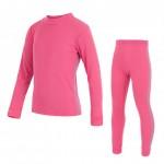 SENSOR ORIGINAL ACTIVE dětský set triko dl.ruk. + spodky růžová