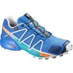 SALOMON boty Speedcross 4 GTX brigit blue/blue/white