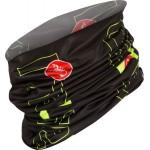 CASTELLI multifunkční šátek LW Head Thingy, black/yell.fluo