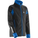 SALOMON bunda Momentum Softshell JR black 16/17