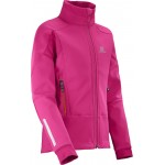 SALOMON bunda Momentum Softshell JR pink 16/17
