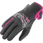 SALOMON rukavice Thermo W black/pink 16/17