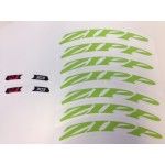 ZIPP Decal Set 303 Matte Green/No Border Logo Complete for One Wheel