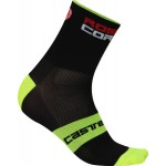 CASTELLI pánské ponožky Rosso Corsa 6 cm, black/yellow fluo