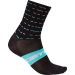 CASTELLI Team Sky pánské ponožky Rosso Corsa 10 cm, black