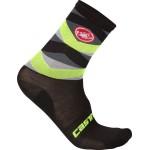CASTELLI pánské ponožky Fatto 12 cm, black/yellow fluo
