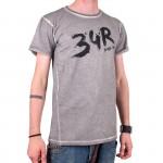34R Tričko Brush šedé