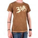 34R Tričko Brush hnědé