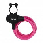 AXA zámek Zipp 120/8 klíč růžová