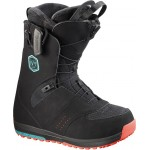SALOMON snowboard boty IVY black/teal blue/red