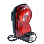 SMART blikačka zadní 321R USB 1x0,5W červená LED